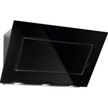 Falmec QUASAR Design Cappa parete cm 80  vetro nero  motore 800 m3h