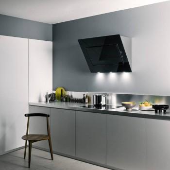 Falmec QUASAR Design Cappa parete cm 90  vetro nero  motore 800 m3h