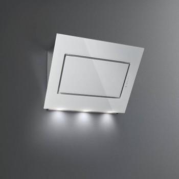 Falmec QUASAR GREEN TECH Design Cappa parete cm 90  vetro bianco  motore 800 m3h