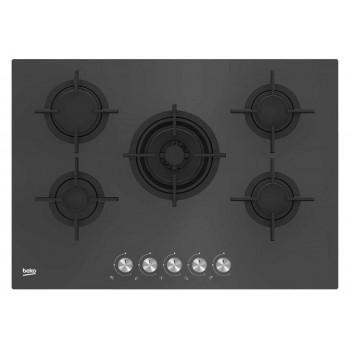 Beko HILW 75222 SZG Shades Piano cottura a gas 75 cm  cristallo zara grey