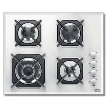 Lofra HGB6H0 Mercurio 60 Piano cottura cm 60  cristallo white 4 fuochi