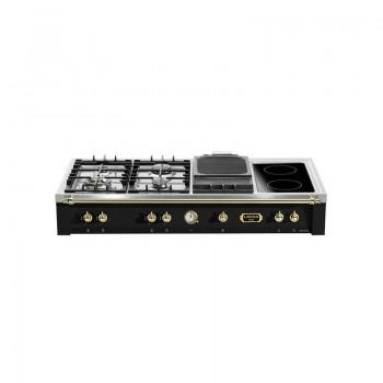 LOFRA TRNM1264BC Range Top Dolce Vita Nero Matt 120 cm  4 fuochi di cui 1 Dual  1 Barbecue  1 piastra a 2 zone