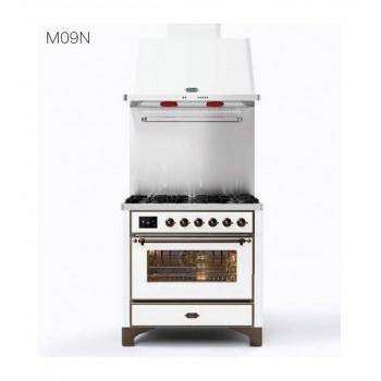 Ilve Cucina da accosto M09N Majestic Cucina da accosto cm 90 configurabile  inox o colorato
