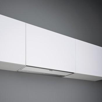 Falmec MOVE Design Cappa incasso cm 90 - acciaio inox / vetro bianco - motore 800 m3/h