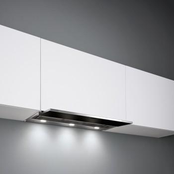 Falmec MOVE Design Cappa incasso cm 60 - acciaio inox / vetro nero - motore 800 m3/h