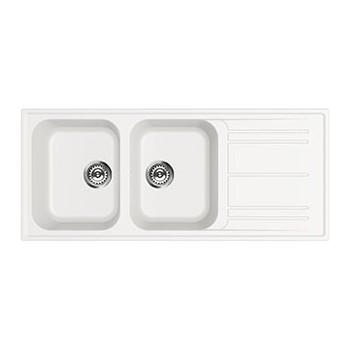 Smeg LZ116B Lavello Universale Lavello sintetico Standard Gocciolatoio Reversibile Numero vasche 2 Bianco