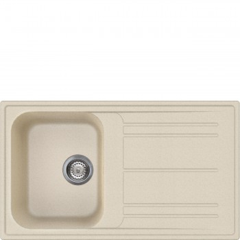 LZ861AV2  EAN13 8017709274542  Lavello sintetico da incasso avena 86 cm Serie Rigae