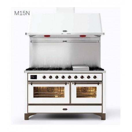 Ilve Cucina da accosto M15N Majestic Cucina da accosto cm 150 configurabile  inox o colorato