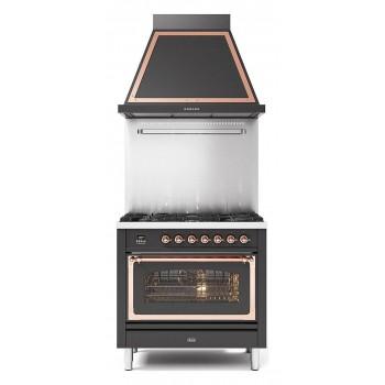 Ilve Cucina da accosto P09N Nostalgie Cucina da accosto cm 90 configurabile  inox o colorato