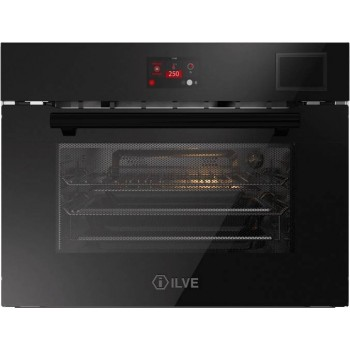 Ilve 645STCHSW Professional Plus Forno combinato con microonde cm 60 h 45  cristallo nero