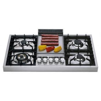 Ilve Piano cottura HAP95F Professional Plus Piano cottura a gas da appoggio cm 90 con piastra fry top  inox