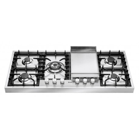 Ilve HAP125F Professional Plus Piano cottura a gas da appoggio cm 120 con piastra fry top  inox