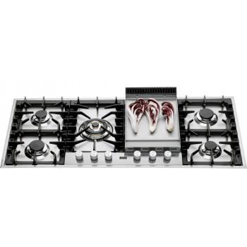 Ilve Piano cottura HP125F Professional Plus Piano cottura a gas cm 120 con piastra fry top  inox