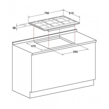 HI 16111 G NUOVO Piano cottura a induzione 60 cm, 4 zone