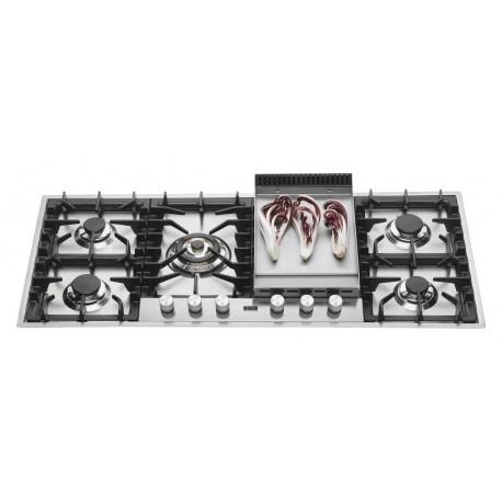 Ilve HPT125F Professional Plus Piano cottura a gas filotop cm 120 con piastra fry top  inox