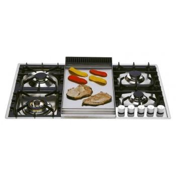 Ilve XLPT90F Professional Plus Piano cottura a gas cm 90 filotop con piastra fry top  inox